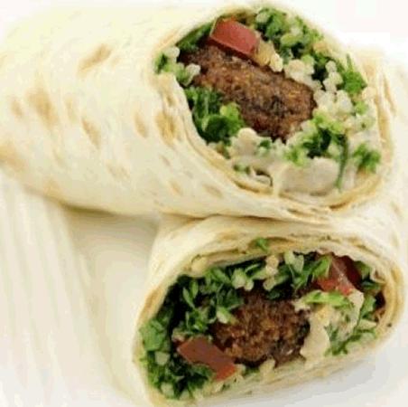 Wrapped Falafel w/ Zataar (vegan)